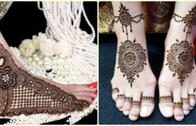 Mehndi Designs For Feet Bridal
