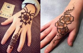 The Mehndi Designs for Kids - Floral Pattern With Leaf Motifs For small baby 2020